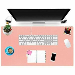 Office Desk Pad Pink 31 X 17 Inch Ultra thin Waterproof Pu Leather Mouse Large