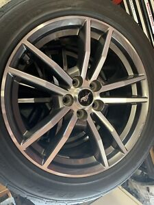 15 16 17 18 Ford Mustang Ecoboost Premium Oem Wheels And Tires Set Of 4