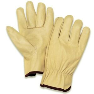 12 Pair Leather Size Medium work Gloves Driver Style