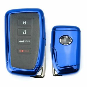 Blue Tpu Key Fob Cover W Button Cover Panel For Lexus Is Es Gs Rc Nx Rx Lx Key