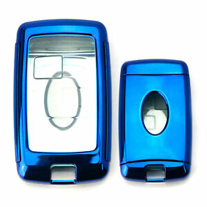 Blue Tpu Key Fob Cover W Button Cover For 18 up Range Rover Sport Or Discovery