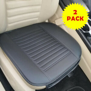 2pcs Car Seat Cushion Pad Vehicle Cooler Cover Summer Cooling Chair Fan Black