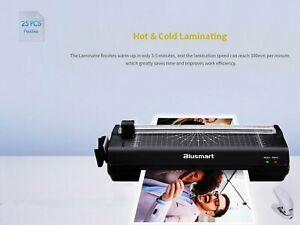 13 Inches A3 Hot cold Laminator With Free 25 Pouches paper Cutter corner Rounder