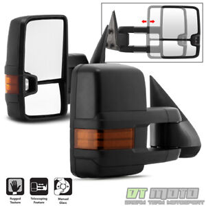 Pair 2 G2 1999 2006 Chevy Silverado Sierra Telescoping Manual Tow Side Mirrors