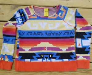 Vintage Coca Cola Clothing Sweater Womens Small MultiColored Aztec RARE!!!! '80s