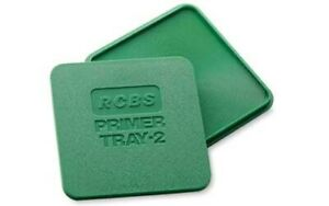 RCBS 09480 Primer Tray 2 Polymer Green Easy to Handle Square Shape