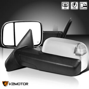 For 2002 2008 Dodge Ram 1500 03 09 2500 3500 Chrome Power heated Led Tow Mirrors
