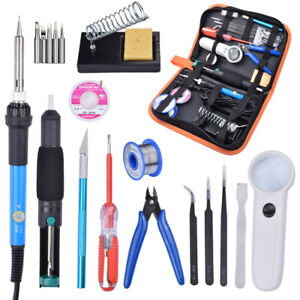 60w 220v Adjustable Temperature Soldering Iron Tools Kit With Desoldering Pump S