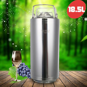 18 5l 304 Stainless Steel Home Brew Keg Bottles Growler Fresh Beer Making Barrel