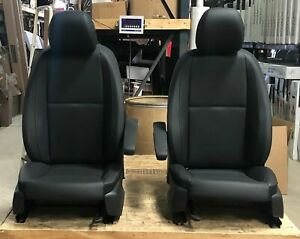 2016 2019 Mercedes Benz Metris Van Black Leather Front Bucket Seats W O Netting
