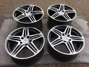 Porsche 987 Boxster Cayman 997 Turbo I Oem Genuine 19 Wheel Center Cap Set