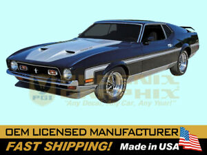 Compatible With 1971 73 Mustang Mach 1 I Boss 351 Hockeystick Rally Stripes