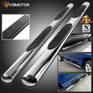 4 Oval Quad Cab 2009 2018 Dodge Ram 1500 Side Step Bars Nerf Running Boards 2pc