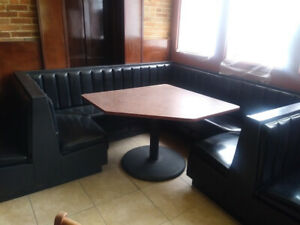 Complete High End Restaurant Seating Booths Tables