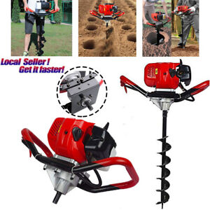 Air Cooled 2 Stroke One Man Hole Auger Head Digger Earth Post Gas Power 52cc