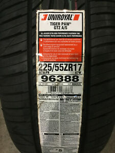 2 New 225 55 17 Uniroyal Tiger Paw Gtz A S Tires