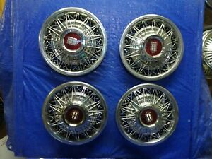 New 1980 1982 Ford Ltd Crown Victoria 15 Wire Wheel Covers Hubcaps Set Of 4