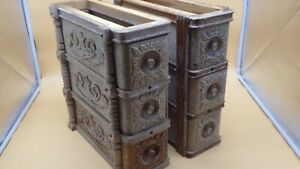 Antique Singer Treadle No 5 Sewing Machine Ornate Drawers 2 Sets Of 3