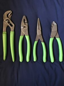 Snap on Green 4 Pc Pliers Cutters Set 91acp 47acf 96acf 87acf