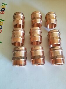 lot Of 9 2 Propress X Male Adapter Press Copper Fittings