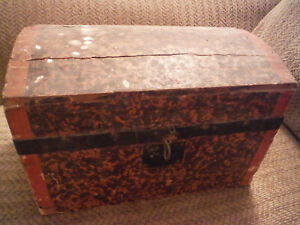 Vintage Treasure Chest Storage Box Large 12 X 7 75 X 8
