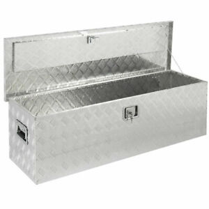 49 Under Bed Trailer Aluminum Tool Storage Box With Tongue Lock Us Store
