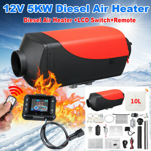 5kw 12v Diesel Fuel Air Heater Lcd Switch Remote Control Car Trucks Boat Trailer