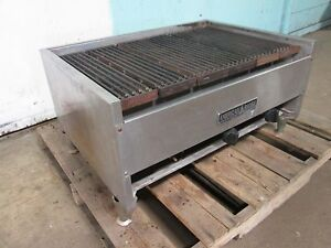american Range H d Commercial 34 Lava Rocks Natural Gas Charbroiler