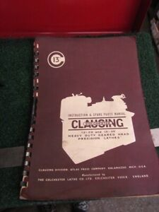Instruction Parts Manual For 13 Clausing Colechester Lathe H 872