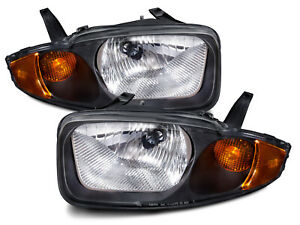 Headlights Pair Left Right Set New Fits 2003 2005 Chevrolet Cavalier