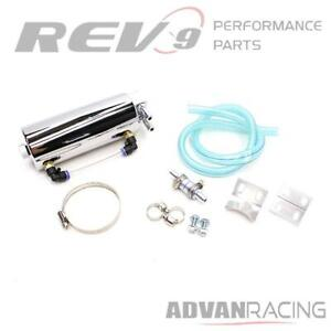 Rev9 ac 009 chrome Universal Aluminum Oil Catch Can With Hose Kit 750ml For