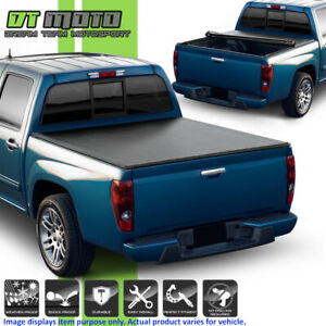 Soft Roll Up Tonneau Cover For 2004 2012 Chevy Colorado Gmc Canyon 5ft Short Bed