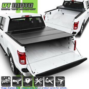 Hard Tri Fold Tonneau Cover For 2015 2019 Ford F150 Pickup Truck 5 5ft Short Bed
