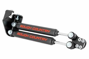 Rough Country Dual Steering Stabilizer Kit Fits 1987 1995 Jeep Wrangler Yj