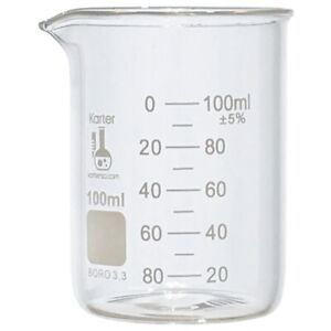 100ml Beaker Low Form Griffin Boro 3 3 Glass Karter Scientific case Of 48