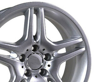 18x9 Silver Amg Style Wheel Fits Mercedes C E S Class Slk Clk Cls 35mm Rear
