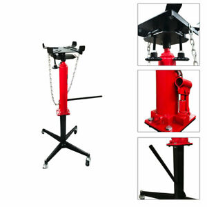 1100lb Steel Hydraulic Transmission Jack Hand Operated Pump Stand Tool