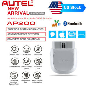 Autel Ap200 Obd2 Auto Scanner Code Reader Diagnostic Tool Bluetooth Full Systems