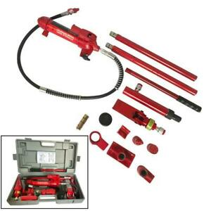 4 Ton Porta Power Hydraulic Jack Autobody Frame Repair Heavy Duty Tool Kits