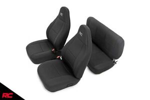 Rough Country Neoprene Seat Covers Fits 1997 2006 Jeep Wrangler Tj set