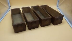 Set Of 4 Antique Wood Singer Treadle Sewing Machine Cabinet Drawers
