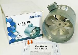 Packard Df9008 8 Inch Duct Fan Inline Blower Booster Exhaust Cooling Vent