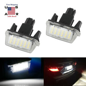2pcs Bright 18 Led Smd License Plate Light For Toyota Camry Prius 2012 2015