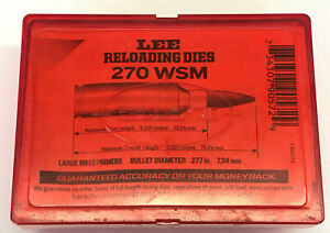 Lee Pacesetter 2 Die Set for 270 Win Short Magnum (WSM)  # 90572 BARELY USED