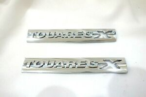 Original Vw Touareg 7p Touaregx Badge Set Side Fender Emblem Oem Pair