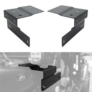 Led Pods Auxiliary Driving Lamp A Pillar Mounting Brackets For 18 Jeep Wrangler