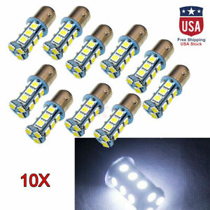 10x Bay15d 1157 5050 18 Smd Car Auto Led Turn Signal Light Tail Brake Lamp Bulb