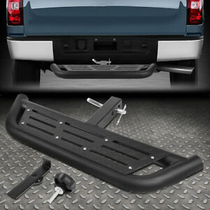 For 2 Receiver Truck Heavy Duty Aluminum 2 Od Round Tow Hitch Step Bar Board