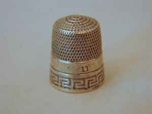 Old Sterling Silver Sewing Thimble No 11 Simons Bros Excellent Condition
