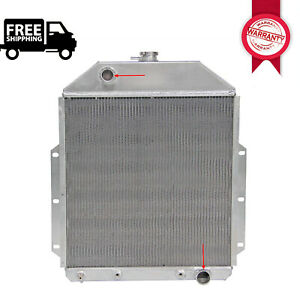 3row Aluminum Radiator 4252ch For 1942 1952 Ford F1 F2 F3 Truck Pickup Chevy Eng